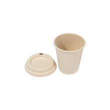 Compostable Sugarcane Disposable Bagasse Cup With Lids
