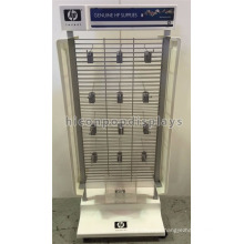 Metal Gridwall Double Sided Electric Products Mobile Point Of Sale Printing Machine Accessories Display