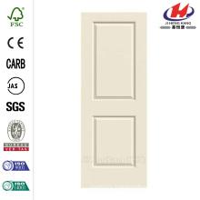 28.0 in. x 80 in. Smooth 2-Panel Solid Core Primed Molded Interior Door Slab