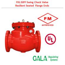 ul fm 50FF Flange swing check valve
