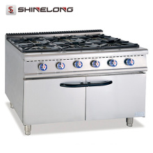 Professional Free Standing Commercial Gas Cooking Range Manufacture Wholesale 6 Burners Gas Range