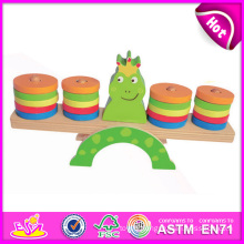 2014 New Wooden Kids Balance Toy for Christmas, Popular Cheap Children Wood Balance Toy, Hot Sale Wooden Baby Balance Toy W11f026