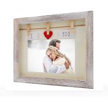 High quality wholesale custom Retro wood frame wedding photo frame for souvenir