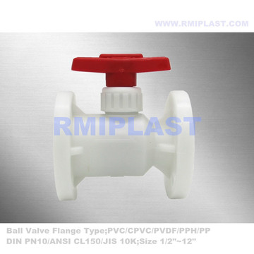 PVDF Ball Valve Flange End ANSI CL150