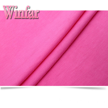 Single Jersey Plain Dye Strick Spandex Polyester Stoff