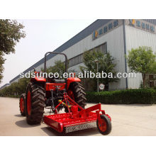 Grass rotary slasher with chain and gearbox