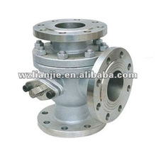CF8M 4 Inch 3 Way Ball Valve Flange End L Port 300LB