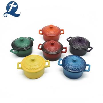 Lid Heat Resistant Ceramic Color Enamel Casserole