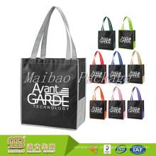 Saco de compras não tecido personalizado feito sob encomenda barato AZO livre do logotipo AZO da qualidade de Eco
