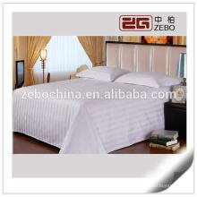 Poliéster e algodão misturado 3 centímetros Stripe baratos barato cama folha