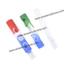 Funda de goma reutilizable de silicona suave para botella de perfume pequeña