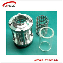 Sanitary Stainless Steel Welded Straight Sight Glass with Protecting Net