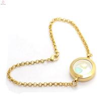 Plain or en acier inoxydable mémoire photo vivant flottants pendentifs bracelet en gros