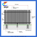 PVC Coated Metal Picket Palisade Fence