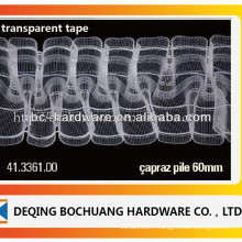 transparent curtain tape ,curtain pleat tape ,polyster curtain tape