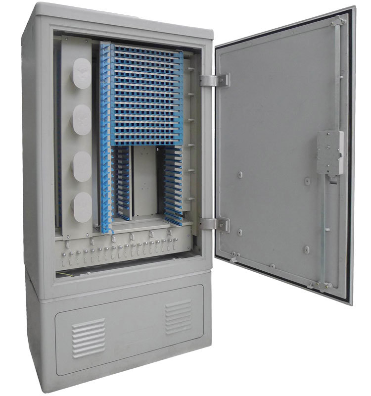 96 Core Fiber Optic Cross Cabinet