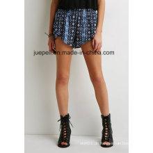 Mandala Print Tulip Hem elastische Taille Shorts