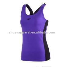 2014 vêtements de yoga en spandex à la mode pour les femmes, top fitness
