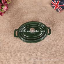 Enamel Mini Oval cast iron casserole