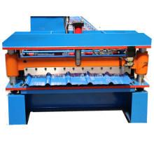 Máquina de fabricación de láminas de cubierta de IBR trapezoidal esmaltada de metal