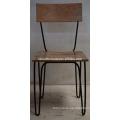 Industrial Urban loft metal Wooden Chair