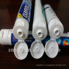 tubo de pasta de dentes dobrável laminado de 3 cores de plástico