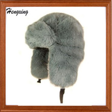 Искусственного Меха Траппер Шляпа - Серый Зимняя Шапка Теплая Шапка