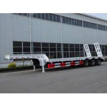 Low Bed Semi Truck Trailer 3 Axles 80T