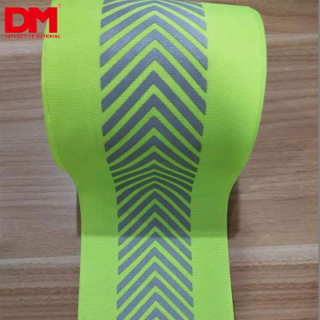 silver grey laser cutting segmented stripes 10mm iron on heat press transfer reflective vinyl tape for reflective zipper clothes