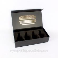 Boîte de cadeau de papier de vin de boîte de empaquetage de tequila de luxe avec la mousse d'EVA