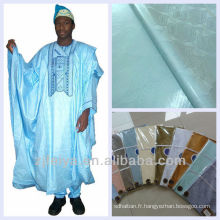 Afrique Brocade Bazin Vêtement Tissu Riche Guinée Brocad Livraison Gratuite Damas Pur Coton Afrique No.1 Qualité