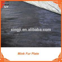 Dark Brown Scrap Mink Fur Plate