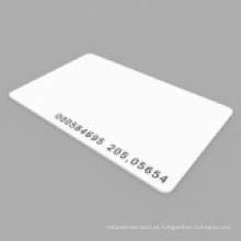 Proximity Em4100 / 4102 Thin RF ID Card con código Uid grabado por láser