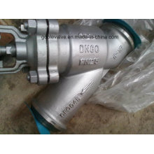 DIN Butt Welded Y Type Bellow Seal Globe Valve (WJ65H)
