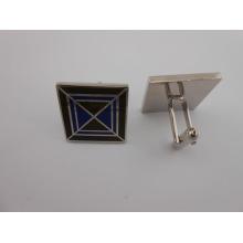Square Custom Metal abotoaduras esmalte abotoaduras (GZHY-XK-014)