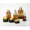 ausgefallene kosmetische bernsteinfarbige Flasche bernsteinfarbiges Glasglas