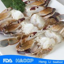 Tres cangrejos manchados con certificado de pesca