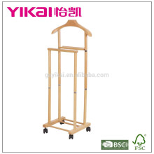 Valet solid wood suit hanger with function