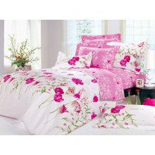 tela impresa de la cama de algodón del poliéster