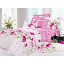 printed poly cotton bed sheet fabric