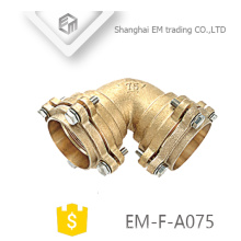 EM-F-A075 High-quality Brass short radius High seal elbow flange type pipe fitting