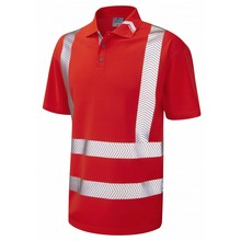 high visibility reflective safety polo tshirt