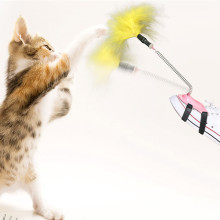 Shop Wholesale Pet New Products Feather Spring Funny Cat Stick Little Feet Cat Cat Toy