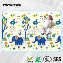 2016 novo design com 1.5 cm de espessura PU baby play mat