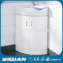 Armário de banheiro moderno Gabão de lavatório de laca de alto brilho Armário de lavatório de lavatório de banheira MDF WC Corner Cabinet