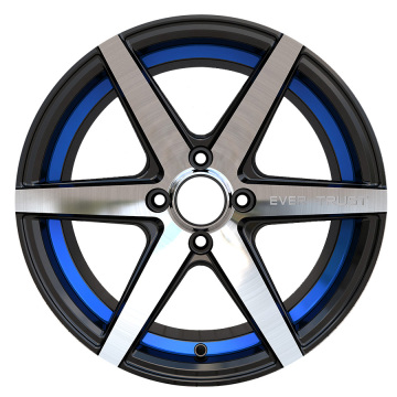 Custom Rim 15x7 4x100 Blue Undercut Ring