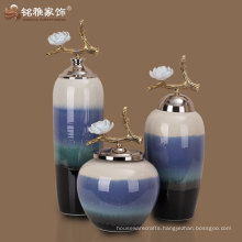 ceramic pottery colorful ceramic vase home decorative pottery vase with lid