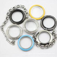 Красочный браслет ювелирные изделия из нержавеющей стали с Locket