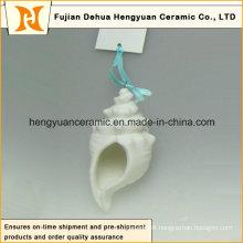 Handmade Ceramic Ocean Series White Pendant (garden decoration)