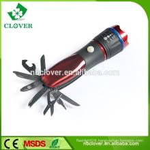 Multi-function 1W LED tool flashlight powerful small led zoom flashlight
